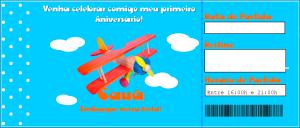 Convite- Cartão de embarque SomosdoMundo