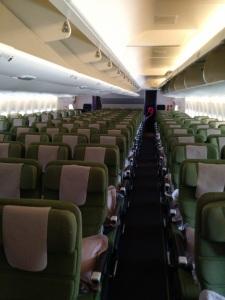 Dentro do avião Qantas SomosdoMundo